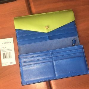 Lodis Wallet Blair Unlined Amanda Continental lime